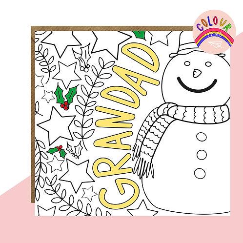 Colour + Send Grandad Christmas Card
