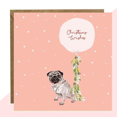 'Pug' Christmas Card