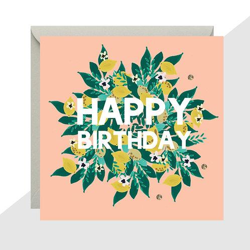 'Happy Birthday' Lemons Card