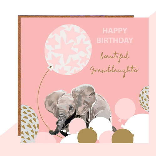 Beautiful Granddaughter Birthday Card