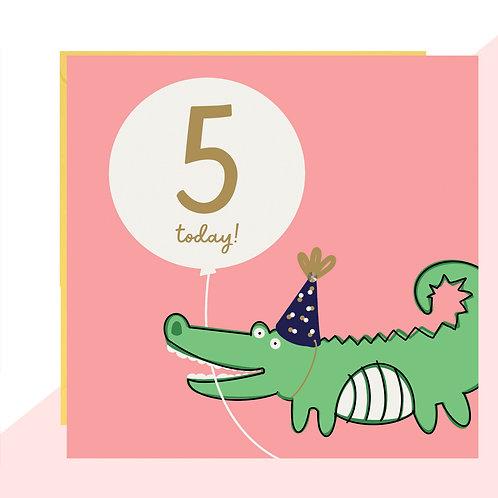 5th Birthday Crocodile Card