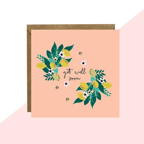 'Get Well Soon' Lemon Mini Card