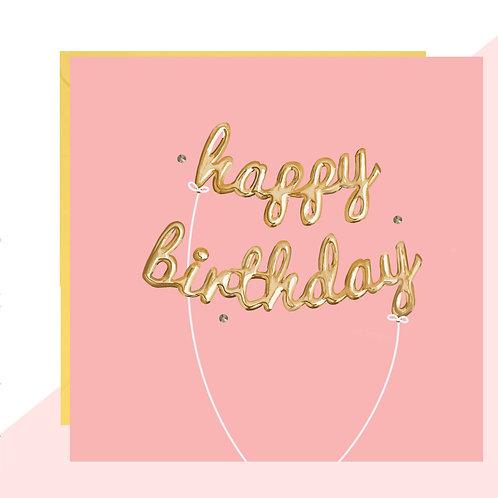 'Happy Birthday' Balloons Card