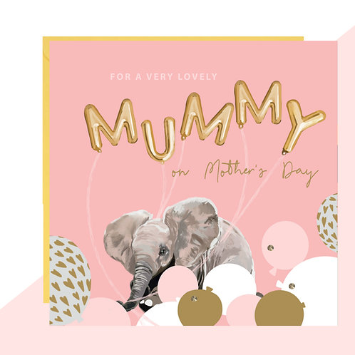 Mother's Day 'MUMMY' Balloon Card