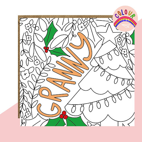 Colour + Send 'Granny' Christmas Card