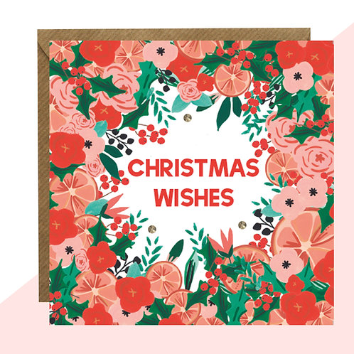 'Christmas Wishes' PACK OF 5 Christmas Cards