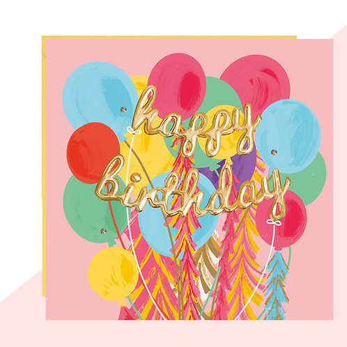 Balloon Bunch 'Happy Birthday' Card