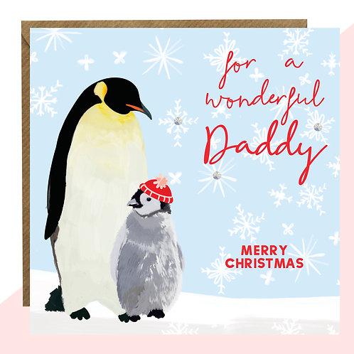 'Wonderful Daddy' Christmas Card