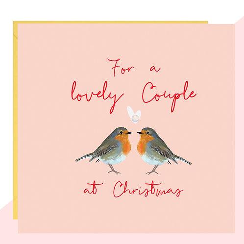 'Lovely Couple' Robins Christmas Card