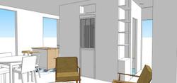 Vue 3D - Salle de Bain // WC