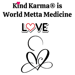 Kind Karma Logo with a Heart and the Word Love.