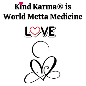 Kind Karma Logo with Heart and Word Love.