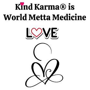 Kind Karma Logo with Heart and Word Love.