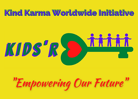 Empowered kids standing are key represnting future.
