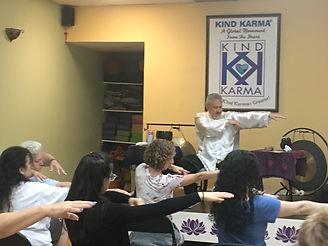 Dean Telano founder of kind karma teaching meditation class