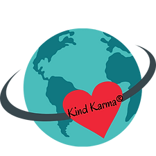 Kind Karma illustration of earth and heart