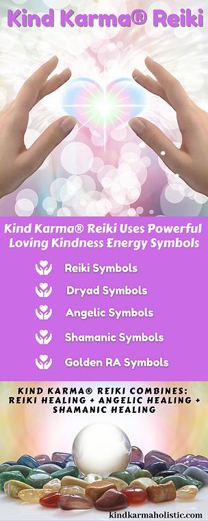 Kind Karma Reiki Description Infographic