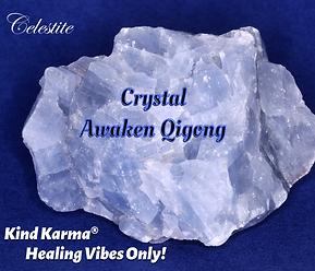 Celestite Crystal used for Awaken Qigong.