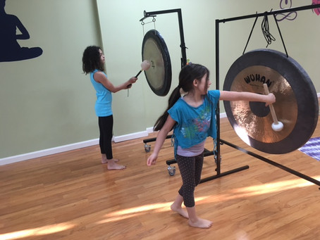 Kind Karma® Kids Yoga. Benefits of Gong Playing for Children.