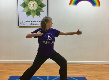 Kind Karma Rahini Yoga: Archer Pose 1, Drawing the Bow.