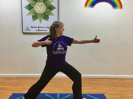 Kind Karma Rahini Yoga: Archer Pose 1, Drawing the Bow.