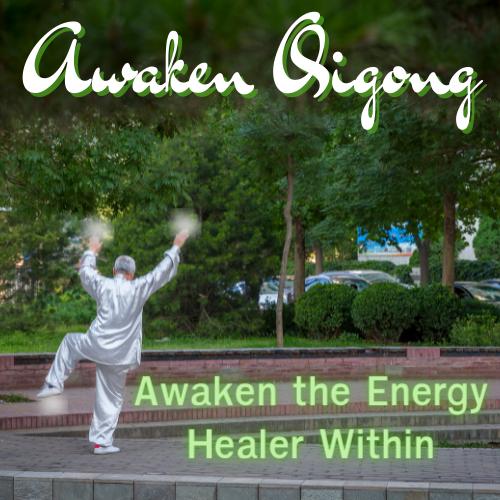 Dr. Dean Telano practicing awaken qigong in the park.