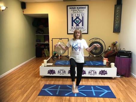Kind Karma Rahini Yoga: Kung Fu Yogi Pose.