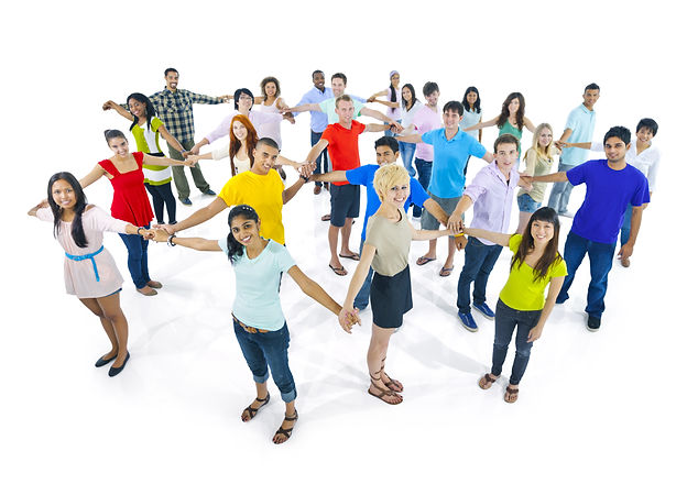 Kind Karma Worldwide Image of a Group of Diverse People Holding Hands.