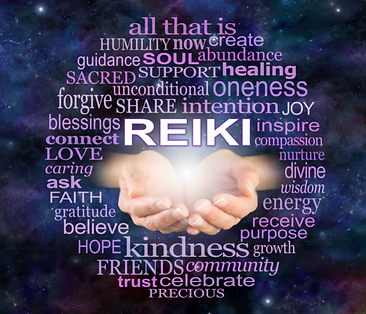 Reiki hands with benefits listed