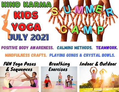 Kind Karma Kids Yoga Summer Camp