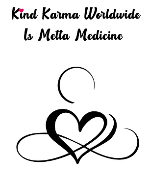 Kind Karma Logo with Heart and Infinity Sign.