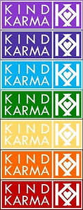 Kind Karma Rainbow Colored Chakra Ladder.