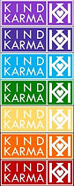 Kind Karma Rainbow Colored Chakra Ladder.