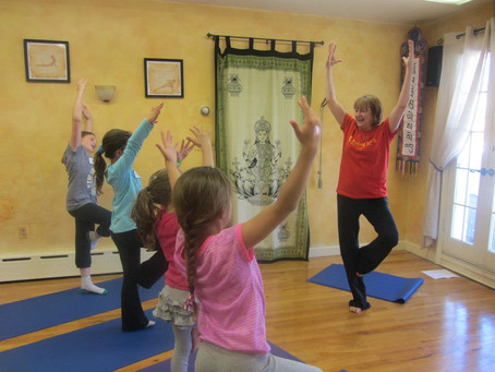 Kind Karma® Kids Yoga - Tree Pose. Youth Empowerment of Wholeness: YEOW.