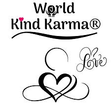 Kind Karma loving kindness heart logo