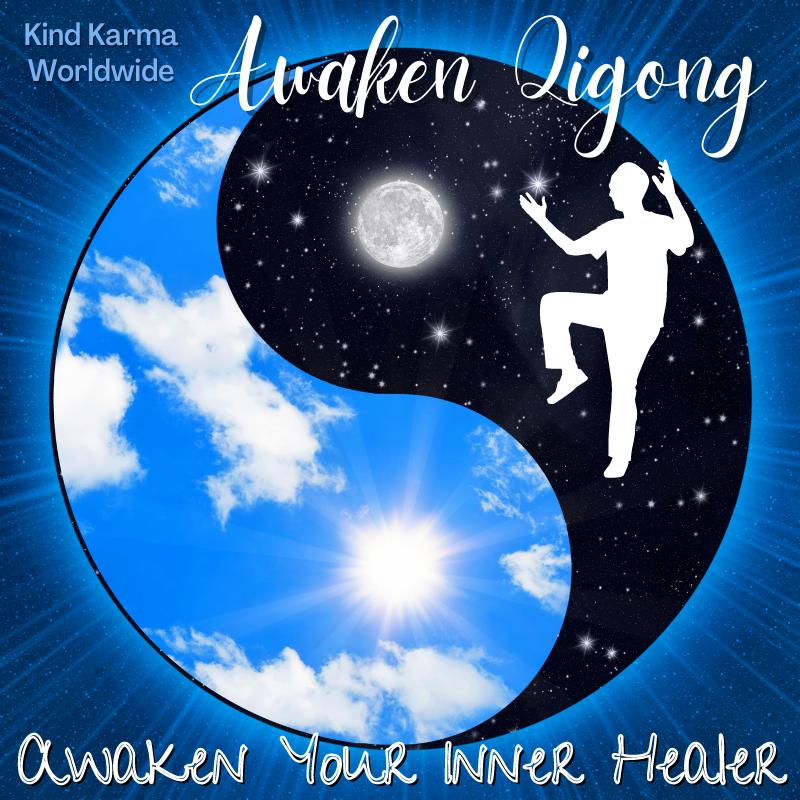 Awaken Qigong with Yin and Yang Symbol.