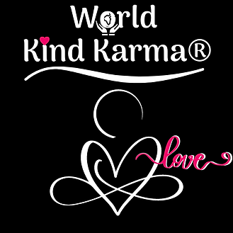 Kind Karma Heart Logo with Love Word