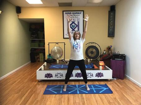 Kind Karma Rahini Yoga: Active Volcano Pose.
