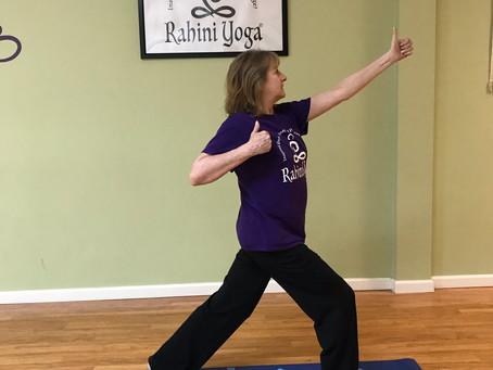 Kind Karma Rahini Yoga: Archer Pose 2, Drawing the Bow.