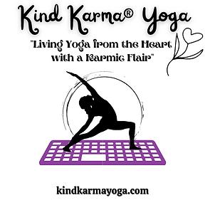 Kind Karma Yoga Log with Heart & Lotus.