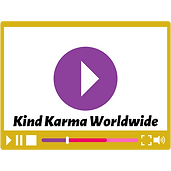 Illustration of a video with the words, kind karma worldwide on it.