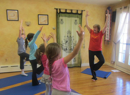 Kind Karma® Kids Yoga - Tree Pose. Youth Empowerment of Wholeness: YEOW.