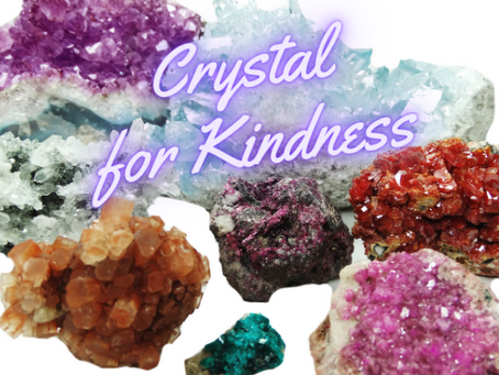 Crystals for Kindness. Creating Kind Karma® with Celestite Crystals.