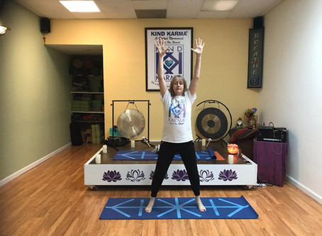 Kind Karma Rahini Yoga: Active Volcano Pose.