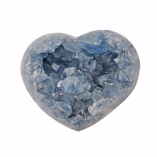 Heart shape Celestine crystal.