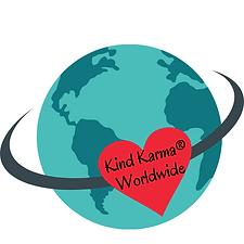 Kind Karma Worldwide Logo with Earth and Heart.