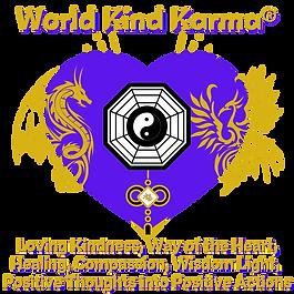 Kind Karma Heart Logo with Dragon & Phoenix