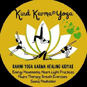 Kind Karma Yoga Asanas with Lotus.