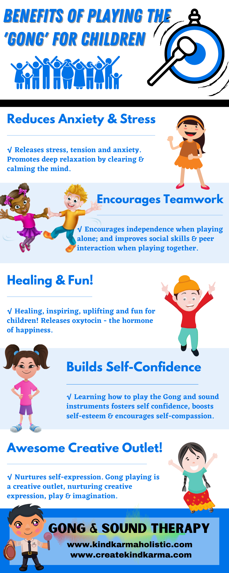 Health benefits of playing the gong for children.