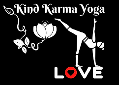 Person doing yoga on the word love with a white lotus flower.